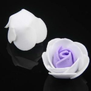 Foam flowers, foam, purple, white, 10 Flower, 2.5cm x 2.5cm x 2cm [approximate], [DZH030]